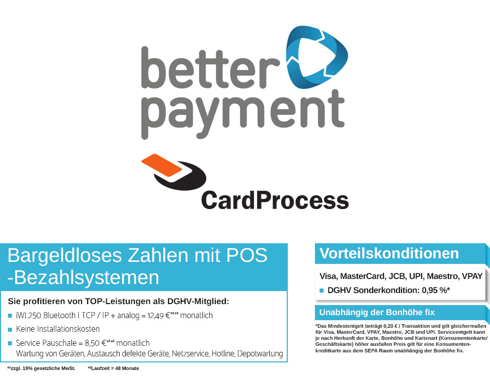 DGHV Better Payment Card Process Bargeldlos zahlen Point of Sale